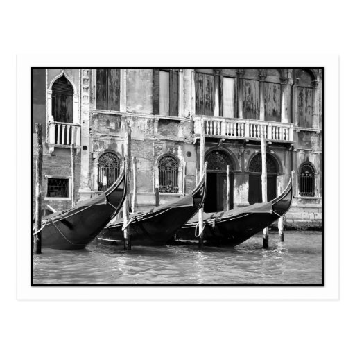 Venezianische Gondel-Postkarte