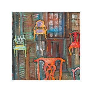 Venezianische Kammern der Stuhl-feinen Kunst Peter Leinwanddruck