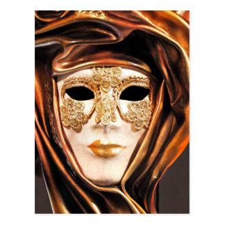 Venezianische Karnevals-Maske Postkarte