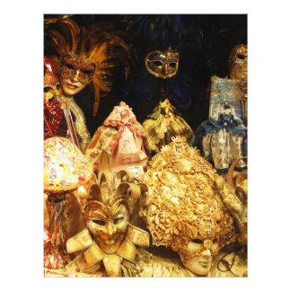 Venezianische Karnevals-Masken - Venedig, Italien Bedruckte Flyer