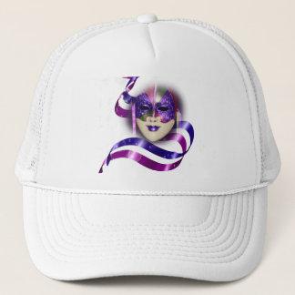 Venezianische lila Bandblasen der Maske Truckerkappe