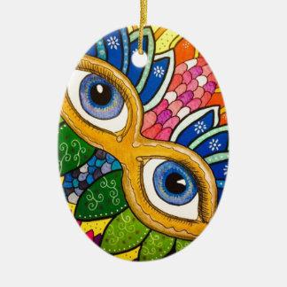 Venezianische Maske Keramik Ornament