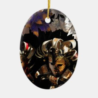 Venezianische Masken Keramik Ornament