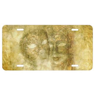 Venezianische Masken-Lizenz-Platte US Nummernschild