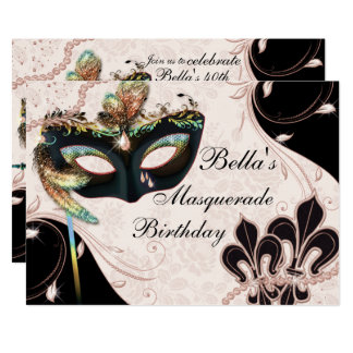 Venezianische Masken-Maskerade-Party Einladungen