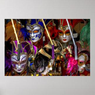 Venezianische Masken Posterdruck