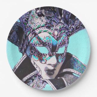 Venezianische Maskerade Pappteller 22,9 Cm