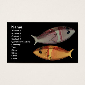 Venezianische Murano Glasfisch-Geschäfts-Karte Visitenkarten