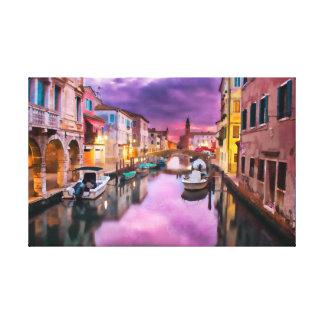 Venezianische Wasserstraße Leinwanddruck
