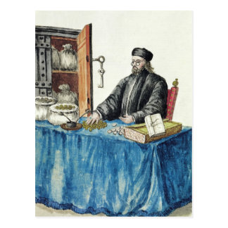 Venezianischer Geldverleiher, von einem Postkarte