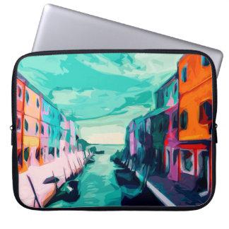 Venezianischer Kanal Laptopschutzhülle