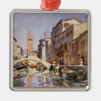 Venezianischer Kanal Silbernes Ornament