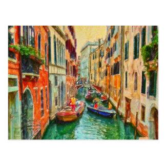 Venezianischer Kanal Venedig Italien Postkarte
