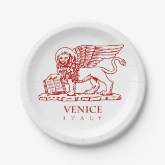 Venezianischer Löwe Pappteller
