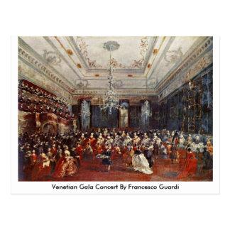 Venezianisches Gala-Konzert durch Francesco Guardi Postkarte