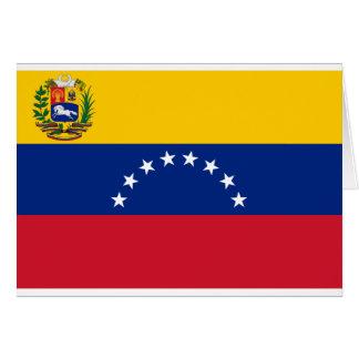 Venezolanische Flagge - Flagge von Venezuela - Karte