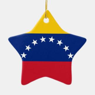 Venezolanische Flagge - Flagge von Venezuela - Keramik Stern-Ornament