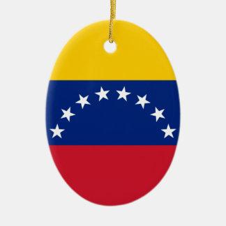 Venezolanische Flagge - Flagge von Venezuela - Ovales Keramik Ornament