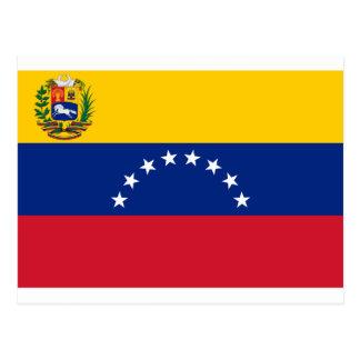 Venezolanische Flagge - Flagge von Venezuela - Postkarte