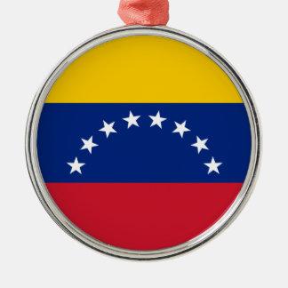 Venezolanische Flagge - Flagge von Venezuela - Silbernes Ornament