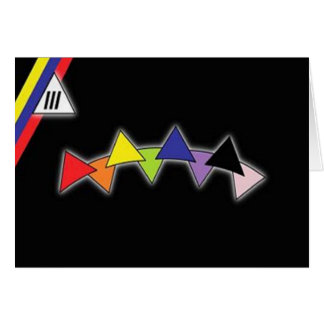 Venezolanische Gay Pride-Flagge Karte