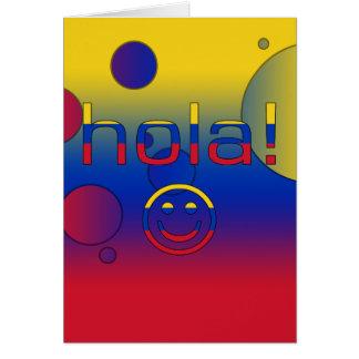 Venezolanische Geschenke: Hallo/Hola + Smiley Karte