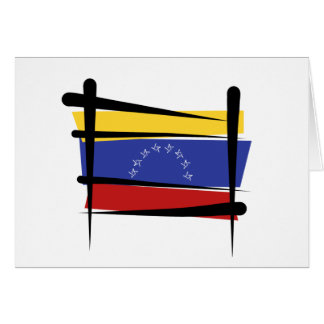 Venezuela-Bürsten-Flagge Karte