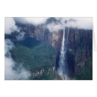 Venezuela, der Salto Angel, Canaima Nationalpark Karte