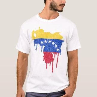 Venezuela-Farben-Tropfen T-Shirt