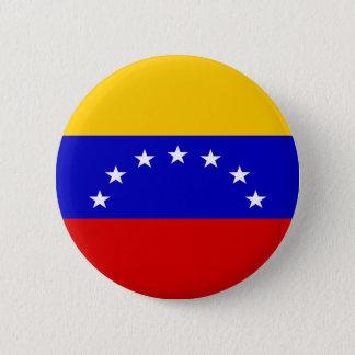 Venezuela-Flagge Runder Button 5,7 Cm