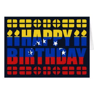 Venezuela-Flaggen-Geburtstags-Karte Karte