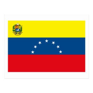 Venezuela-Flaggen-Postkarte Postkarte