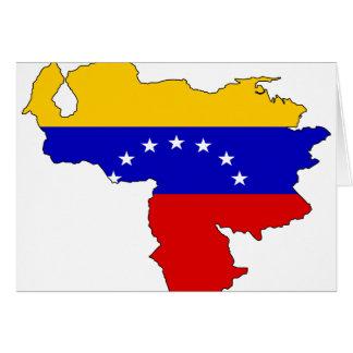Venezuela-Flaggenkarte Karte