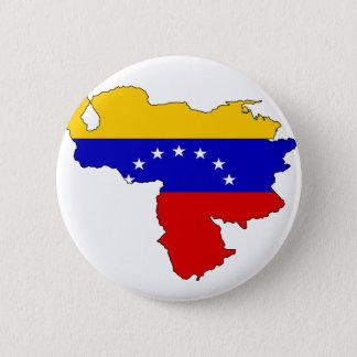 Venezuela-Flaggenkarte Runder Button 5,1 Cm