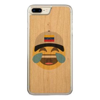 Venezuela-Hut, der Emoji lacht Carved iPhone 7 Plus Hülle