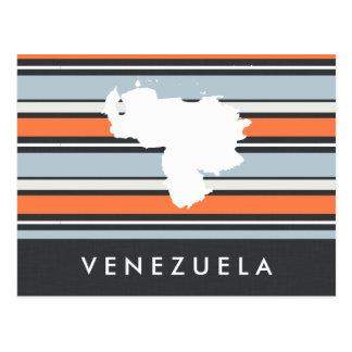 Venezuela-Karte: Moderne Streifen Postkarte