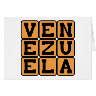Venezuela, Land in Südamerika Karte