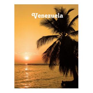Venezuela-Sonnenuntergang Postkarte