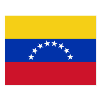 Venezuela-Staatsflagge Postkarte
