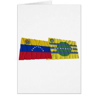Venezuela und Bolívar wellenartig bewegende Karte