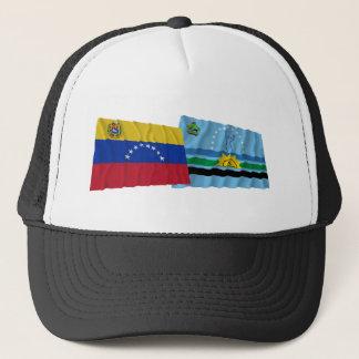 Venezuela und Monagas wellenartig bewegende Truckerkappe