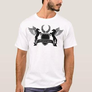 Veni Vidi Vici großes Abzeichen T-Shirt