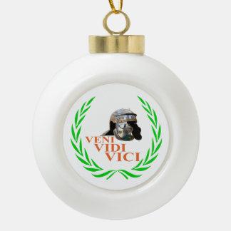 Veni Vidi Vici Keramik Kugel-Ornament