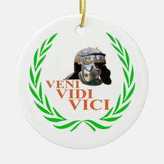 Veni Vidi Vici Keramik Ornament