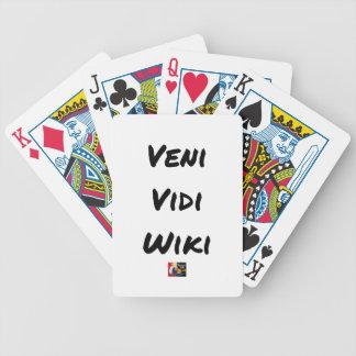 VENI VIDI WIKI - Wortspiele - Francois Ville Bicycle Spielkarten