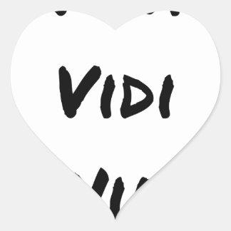 VENI VIDI WIKI - Wortspiele - Francois Ville Herz-Aufkleber