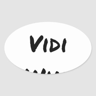 VENI VIDI WIKI - Wortspiele - Francois Ville Ovaler Aufkleber