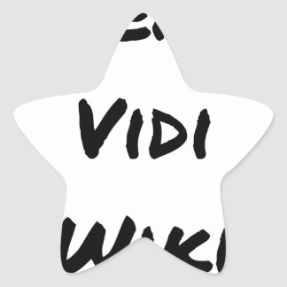 VENI VIDI WIKI - Wortspiele - Francois Ville Stern-Aufkleber