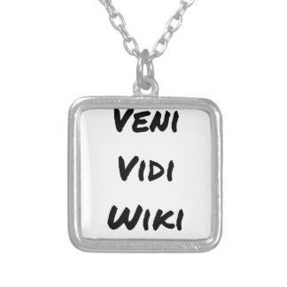 VENI VIDI WIKI - Wortspiele - Francois Ville Versilberte Kette