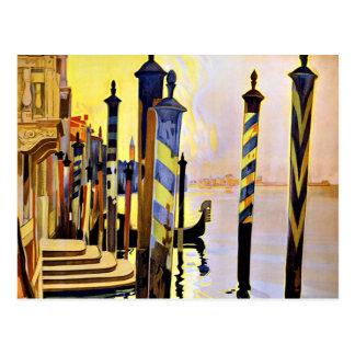 Venise und le Lido Venedig Italien Postkarte